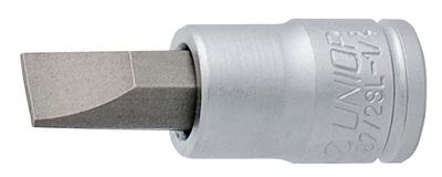 "Unior Slotted Screwdriver Socket 1/4"" 187/2sl"