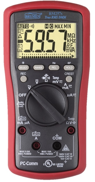 Brymen Practical True-RMS Digital Multimeter BM257s