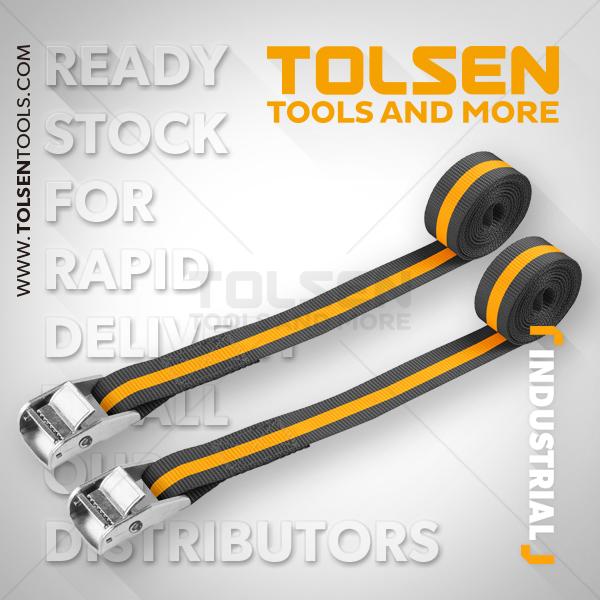 Tolsen 1T x 2.5M Tie Down Set (2pcs) 62246
