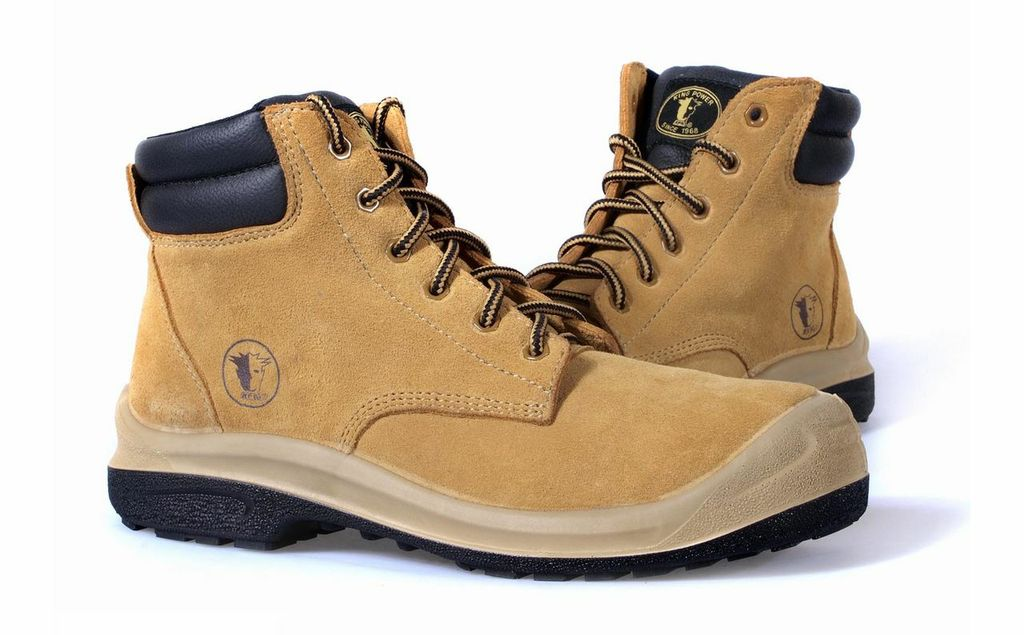 KPR L-Series Non-Metallic Mid Cut Honey Suede Lace Up Safety Boots