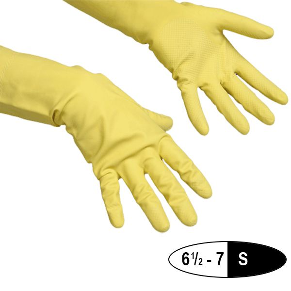 Vileda Contract Rubber Glove Yellow