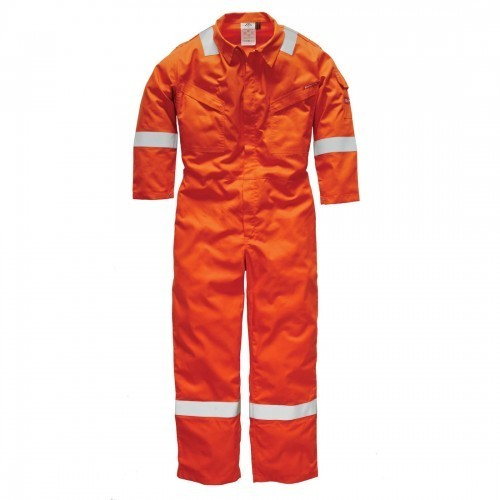 Accsafe Pyrovatex Fire Retardant Orange Coverall 0113
