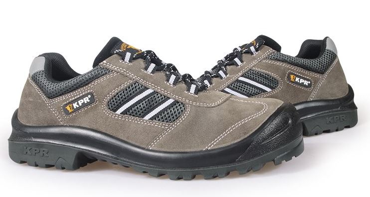 KPR M-Series Non-Metallic Low Cut PU/Rubber Grey Suede Lace Up Sports Safety Shoes
