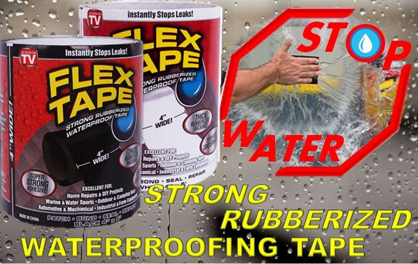 """Waterproofing Flex Tape 4""""x5'"""