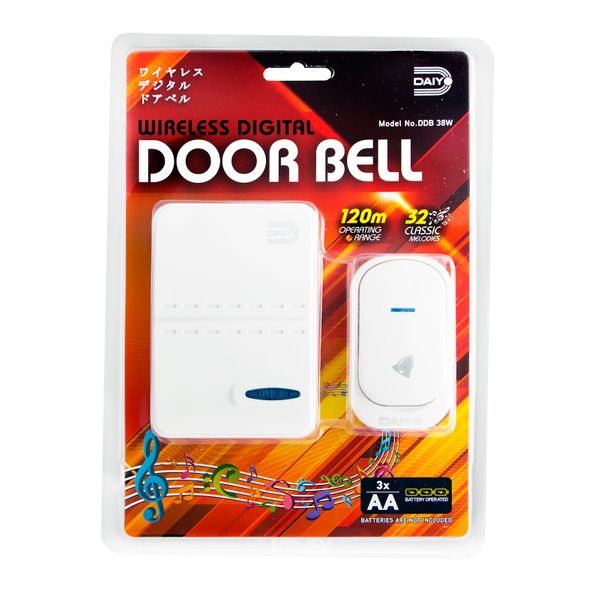 Daiyo Wireless Digital Door Bell (battery) DDB 38W