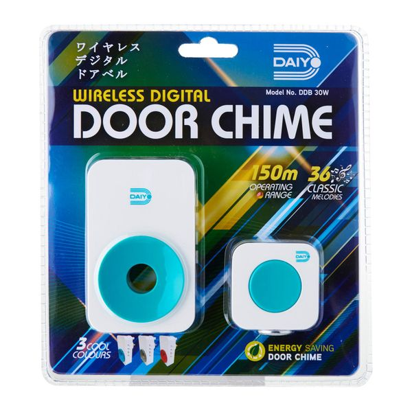 Daiyo Wireless Door Chime (ac) Turquoise DDB 30WT
