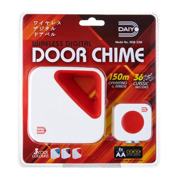 Daiyo Wireless Door Chime (battery) Red DDB 33WR