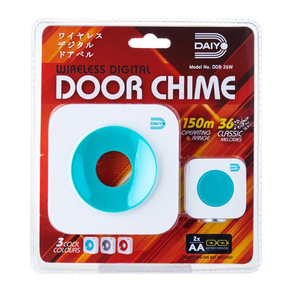 Daiyo Wireless Retro Door Chime (battery) Turq DDB 26WT
