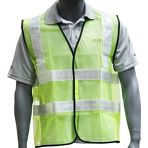 Workgard Reflective Strip Safety Vest Lime Green