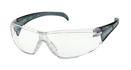 Worksafe Alcor, Clear Frm, Grey Translucent Temple, Clear Hc Lens