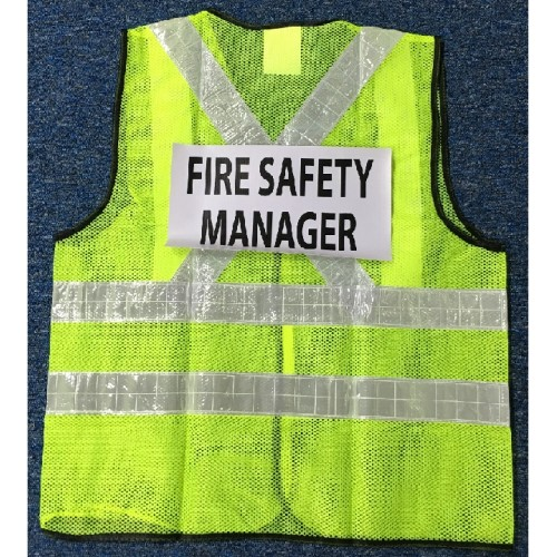 AccSafe Safety Vest Red or Lime Green Mesh with Reflective Strip & Printing
