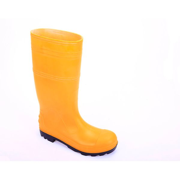 Yellow Pvc Boots/ Safety Boots/ Anti-slip/ Steel Toe