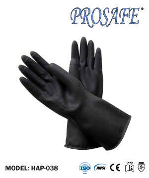 Prosafe HD Industrial Black Rubber Glove