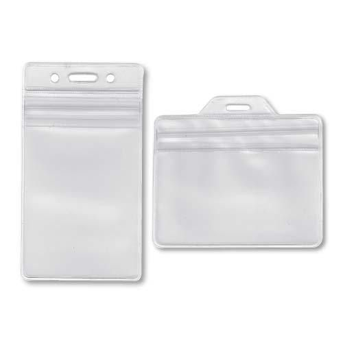 Ziplock Card Holders - Frosted