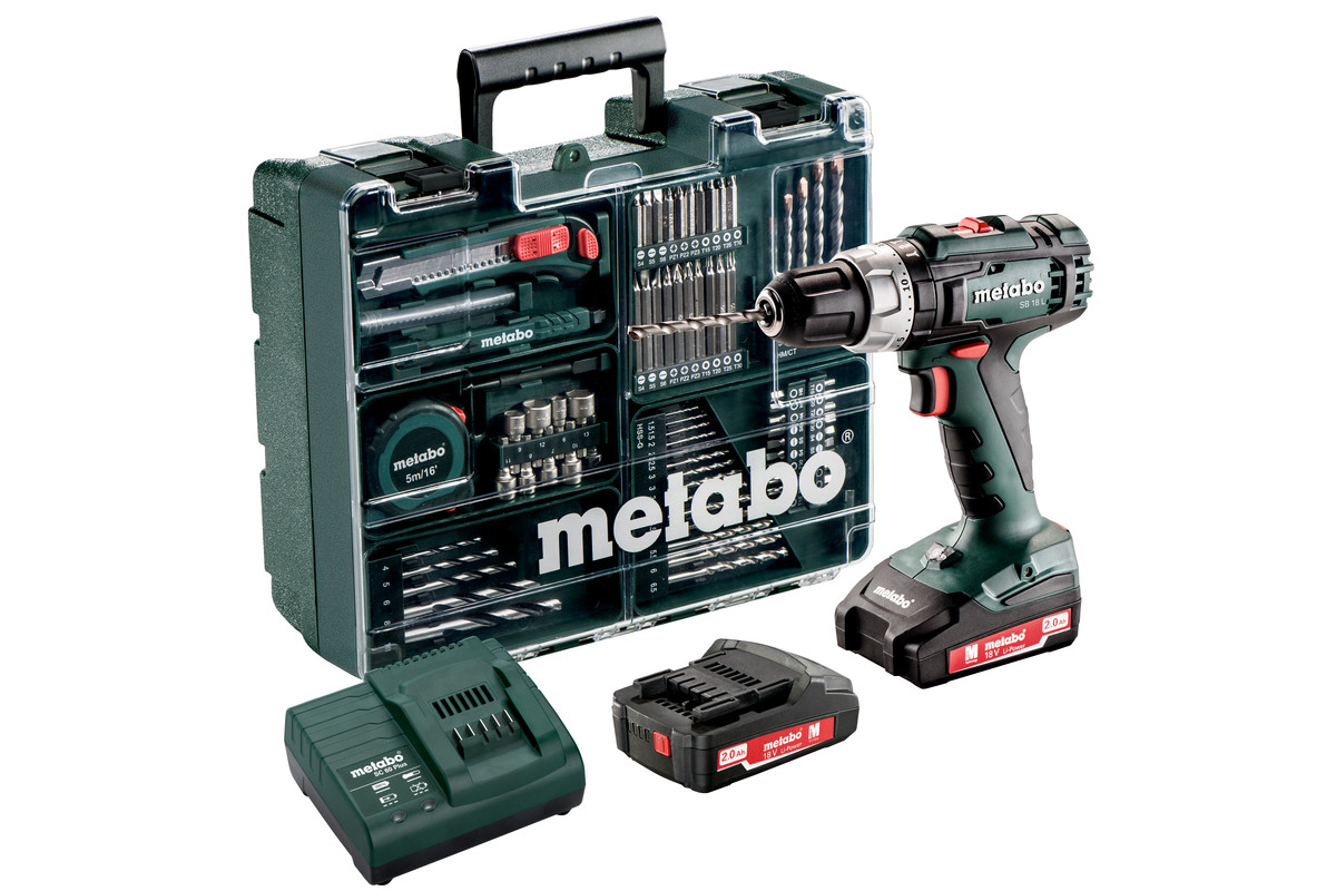 Metabo Cordless Impact Hammer Drill Set SB18L
