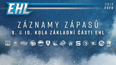 Záznamy zápasů 9. a 10. kola základní části EHL