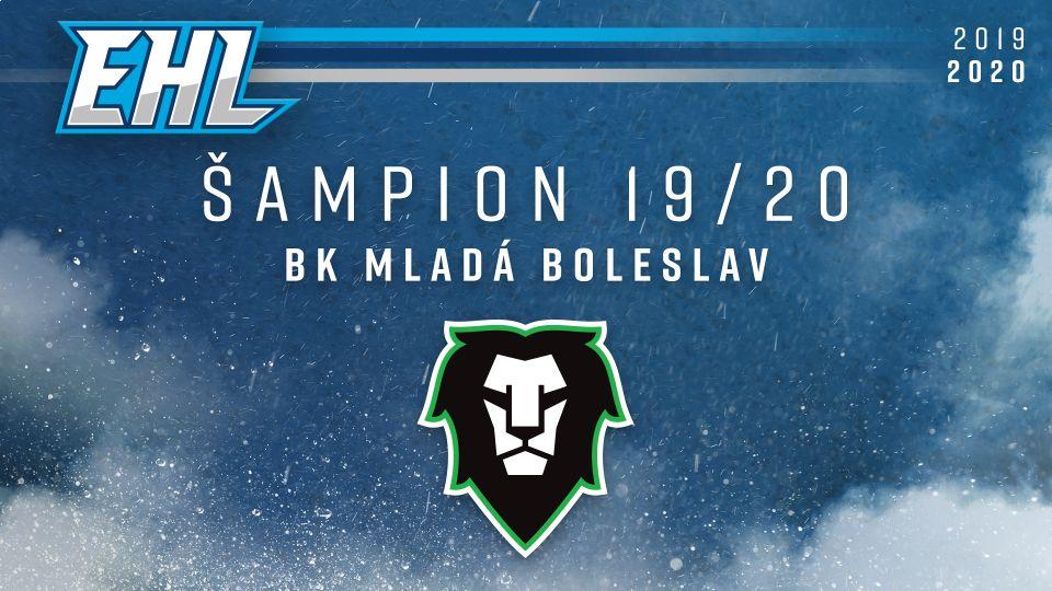 Titul prvního šampiona EHL slaví BK Mladá Boleslav