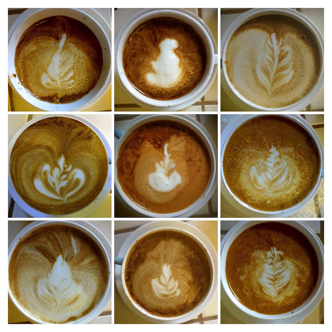 latte art collage