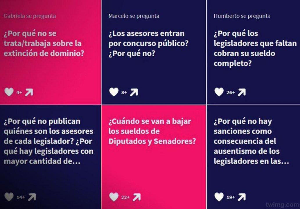 Estas son algunas de las preguntas que publicaron los argentinos.