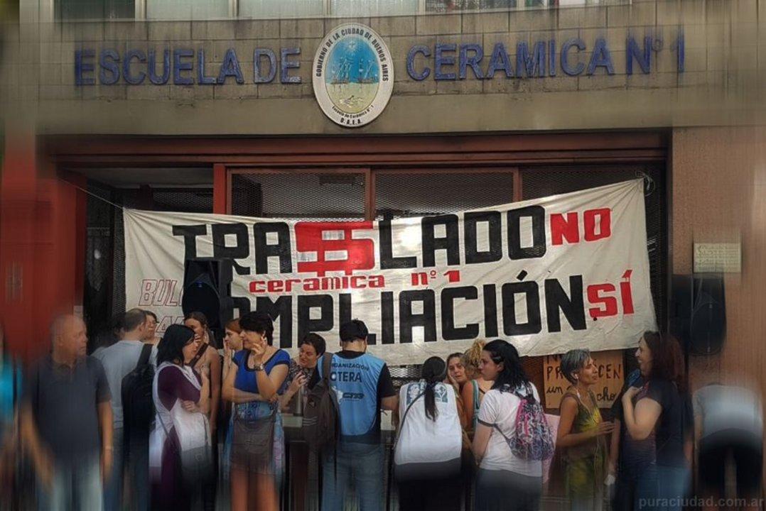 Hubo movilizaciones de toda la comunidad educativa en rechazo a la mudanza que propone el Gobierno.