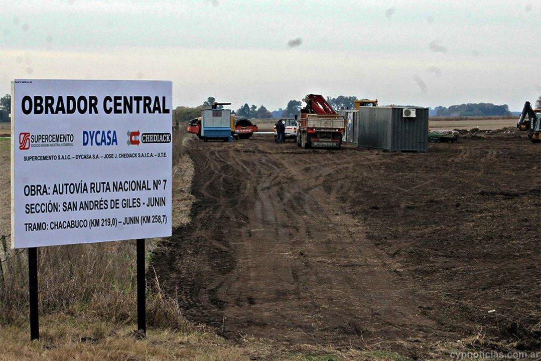El tramo que va de Junín a Chacabuco supuestamente está en ejecución, pero no se ven avances.