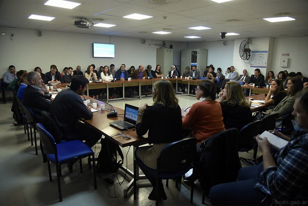 La jornada se llevó a cabo en la Sala 3 del Anexo de la Cámara de Diputados de la Nación.