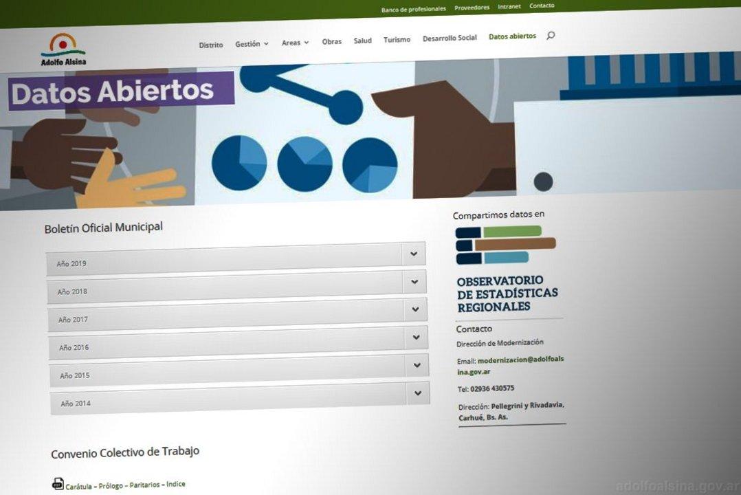 En el portal web, los vecinos pueden consultar diferentes datos sobre el ejercicio de gobierno.