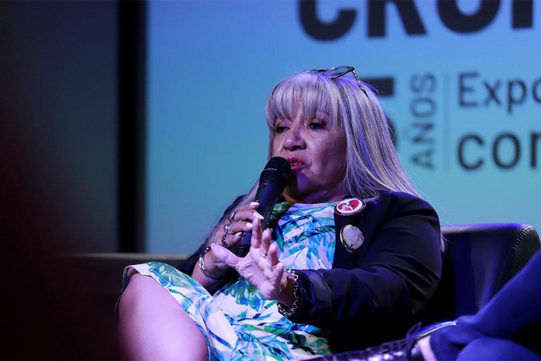 Nilda Gómez, madre de una de las víctimas fallecidad y miembro de Familias por la Vida.