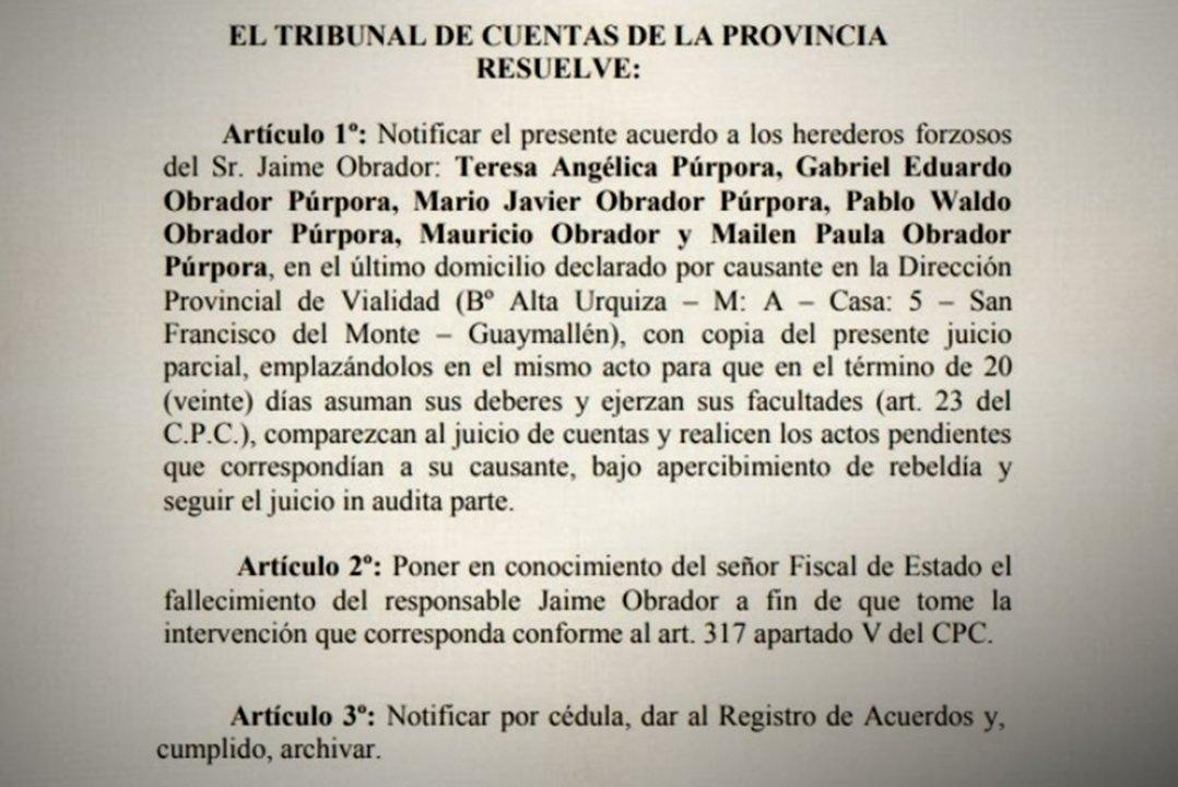 El Acuerdo del Tribunal mendocino fue publicado el 18 de diciembre.