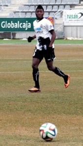 Karim en el partido copero jugado ante el Linares el jueves