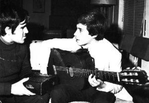 José Viocente Avila e Ismael M. Barambio en la entrevista de 1976. Ismael tenía 16 años.