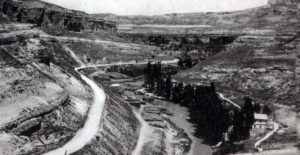 La Hoz del Júcar. A la derecha, la Ribera de San Juan. Hacia 1925.
