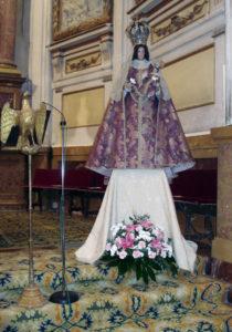 Virgen del Sagrario en el altar mayor. (Josevi)