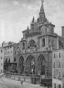 Catedral de Cuenca, antes del hundimiento de la Torre. 1900