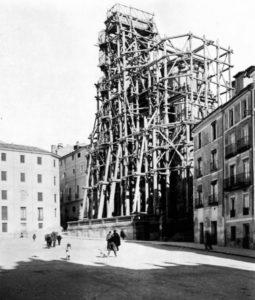 Así se encontró Cajal la PLaza Mayor y la Catedral.
