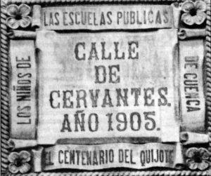 Placa de la calle de Cervantes, antigua Ventilla.