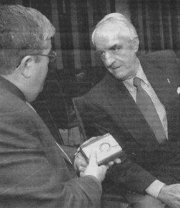 Vicente Alfieri con José Vicente Avila en la entrevista de 2010