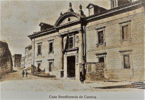 Antigua Casa de Beneficencia. Foto 1945.