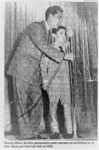 Alfieri de niño con José Luis Coll