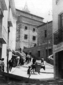 Escaleras del Gallo y Almudi donde estuvo el Laboratorio Municipal. / Foto Zomeño.