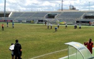 Adiguibe celebra su gol. / Josevi.