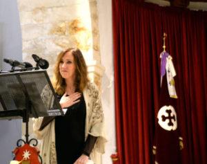 Pilar, emocionada. / Foto Saúl García. Las Noticias.