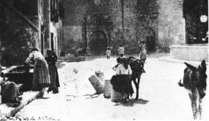 Aguadoras en la fuente de San Antón. / Conde de la Ventosa (Crónica de un tiempo, una ciudad)