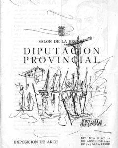 Dibujo de Aristizábal en el programita de la Exposición de 1950.