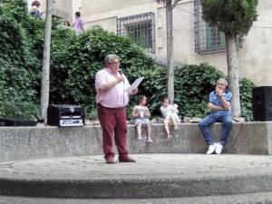 José Vicente Avila durante el Pregón. / Foto José Luis Pinós.