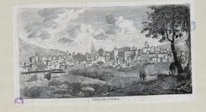 Vista de Cuenca, 1860. / Biblioteca Nacional.