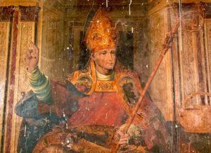 La pintura de San Julián hallada por sorpresa. / Facebook Catedral.