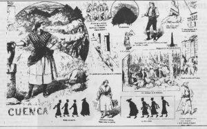 Doble página con los Apuntes de Cuenca. / Madrid Cómico, 1888