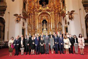 Los premiados con los Reyes en el Palacio de la Merced de Córdoba. / Foto Casa Real.
