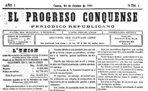 Número 1 de El Progreso Conquense, fundado por Santiago López.